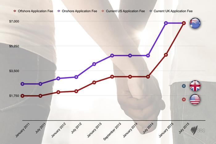 Comparison Cost of partnership visas